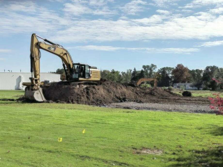 Construction begins at the Saint-Gobain expansion in Beaverton. (Tereasa Nims/For the Daily News)