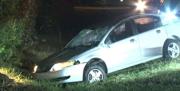 Two men were arrested in a police chase that ended on Colwell and Kuykendahl on Tuesday, Oct. 23, 2018.