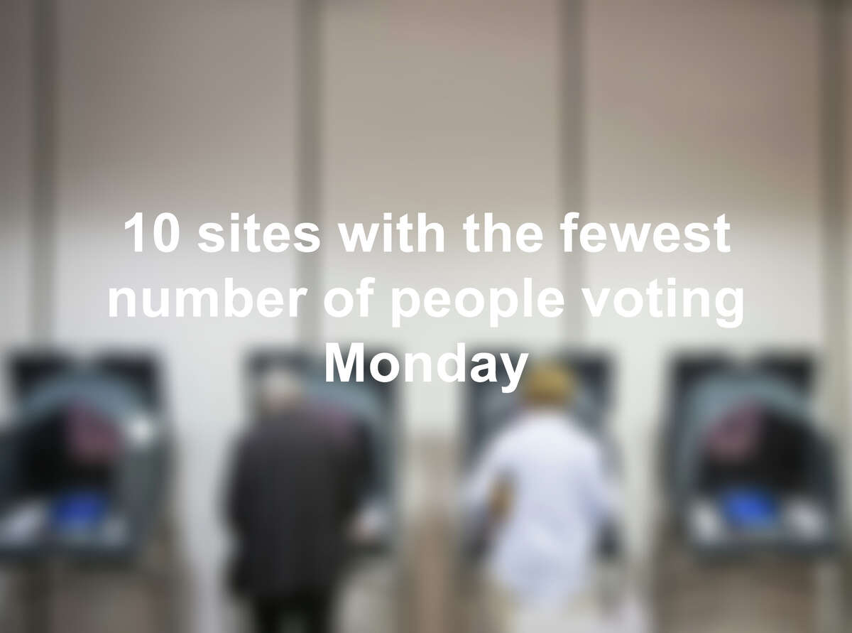 Click through the slideshow to see where people voted the least Tuesday.