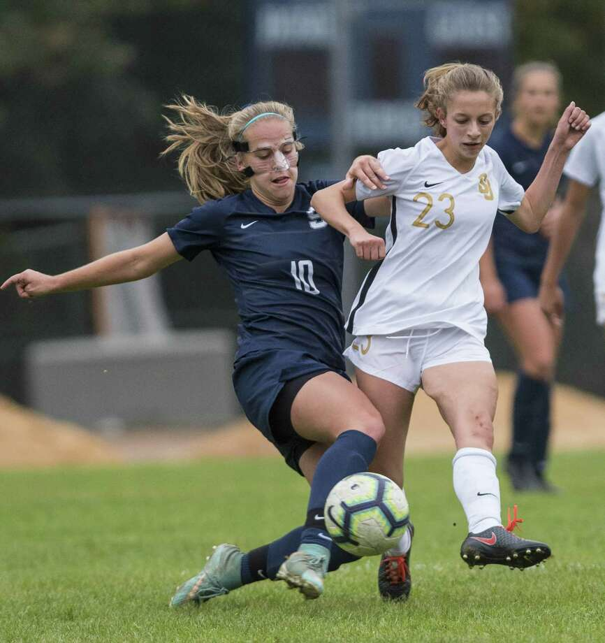 St. Joseph High School against Staples High School during a girls soccer game played at Staples High School, Westport, CT. Monday, October 22, 2018. Photo: Mark Conrad / For Hearst Connecticut Media / Connecticut Post Freelance