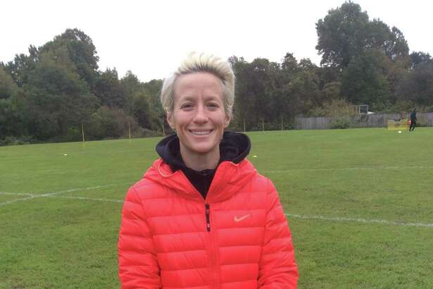 Megan Rapinoe, a member of the U.S. women?'s national soccer team, held her soccer clinic at Sacred Heart Greenwich on Saturday. Rapinoe played on the United States?' women?'s team that won the World Cup in 2015.