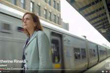 """Metro-North's President Catherine Rinaldi in a scene from a video on the railroad's """"Way Ahead"""" strategic plan that was released on Tuesday, Oct. 23, 2018."""