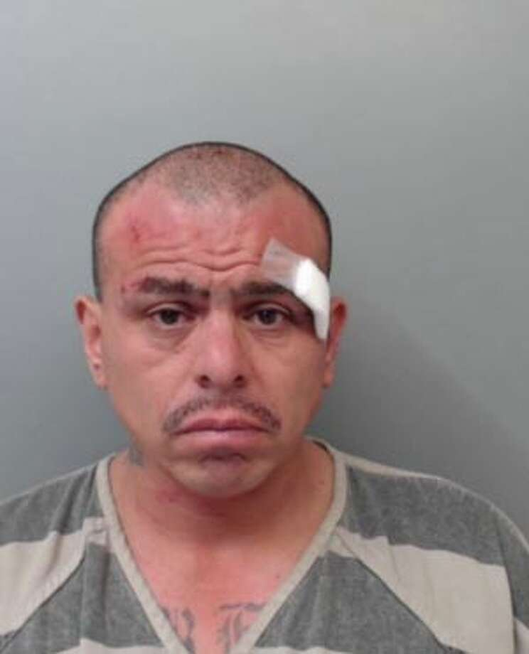 Salvador Diaz Sanchez, 47, was charged with three counts of theft, two counts of assault on a peace officer and one count of resisting arrest. Photo: Webb County Sheriff's Office