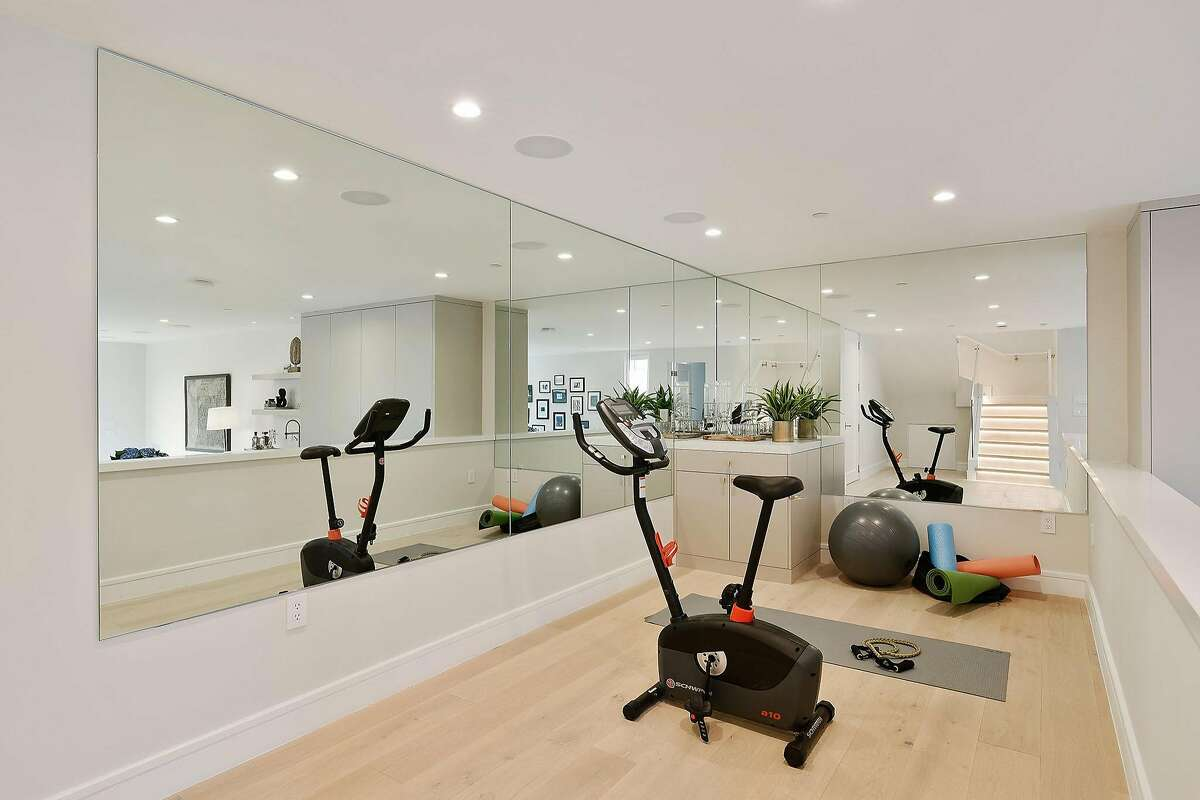 The Cow Hollow home includes an exercise room.