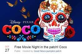 Free Movie Night in the Patch; Coco Oct. 27, 8 - 11 p.m.Good News Pumpkin Patch, 11020 Old Corpus Christi HighwayHosted by Good News Pumpkin Patch
