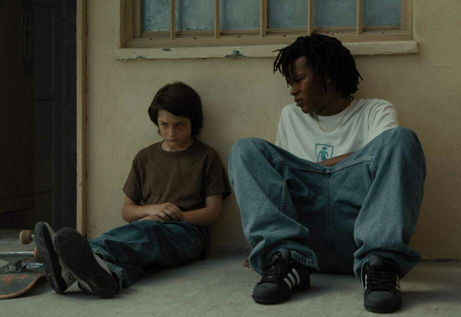 "Sunny Suljic, left, and Na-Kel Smith in ""Mid90s."" Photo: A24 / A24"