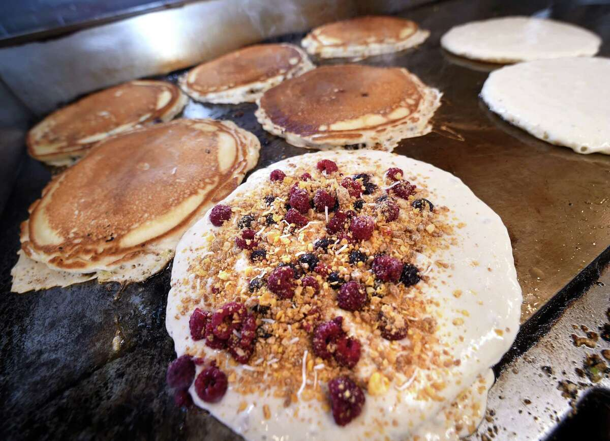 Pancakes at Cristy's Madison Inne Restaurant & Bar on March 23, 2018. Cristy's, Madison and Westbrook: Best pancakes finalist Cristy's dual inn and pancake restaurant was named a finalist for Connecticut's best pancakes. The restaurant offers over 40 varieties of pancakes ranging anywhere from raspberry to coconut and pineapple, and even Reeses pieces fluffy delights.   cristysmadison.com