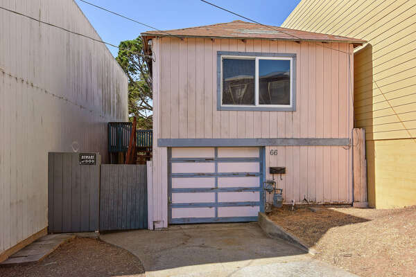 A 480-square-foot Visitacion Valley home at 66 Bishop St. is listed for $650,000.