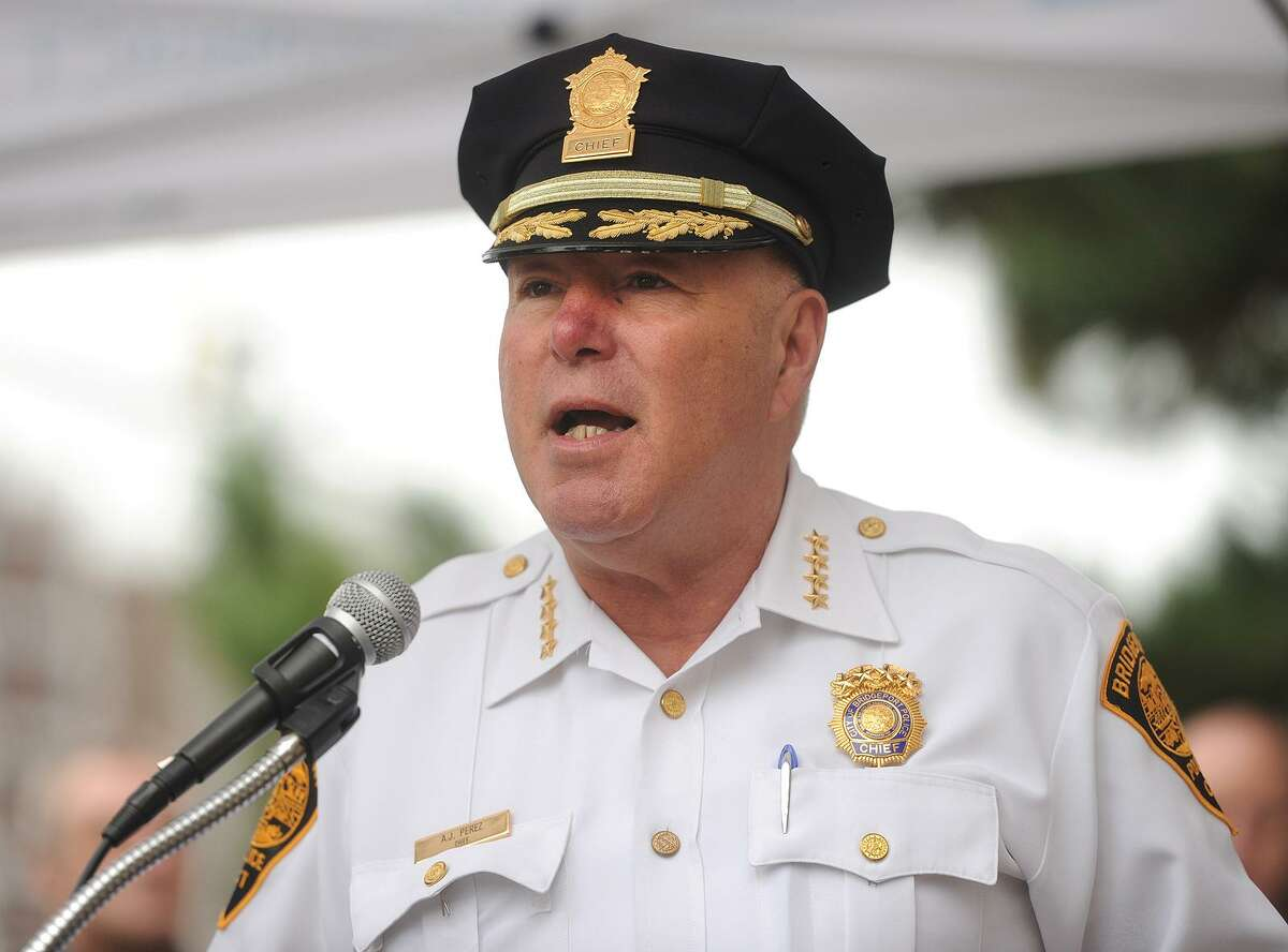 Perez was one of three finalists Mayor Ganim evaluated for the permanent position of Bridgeport Police Chief.