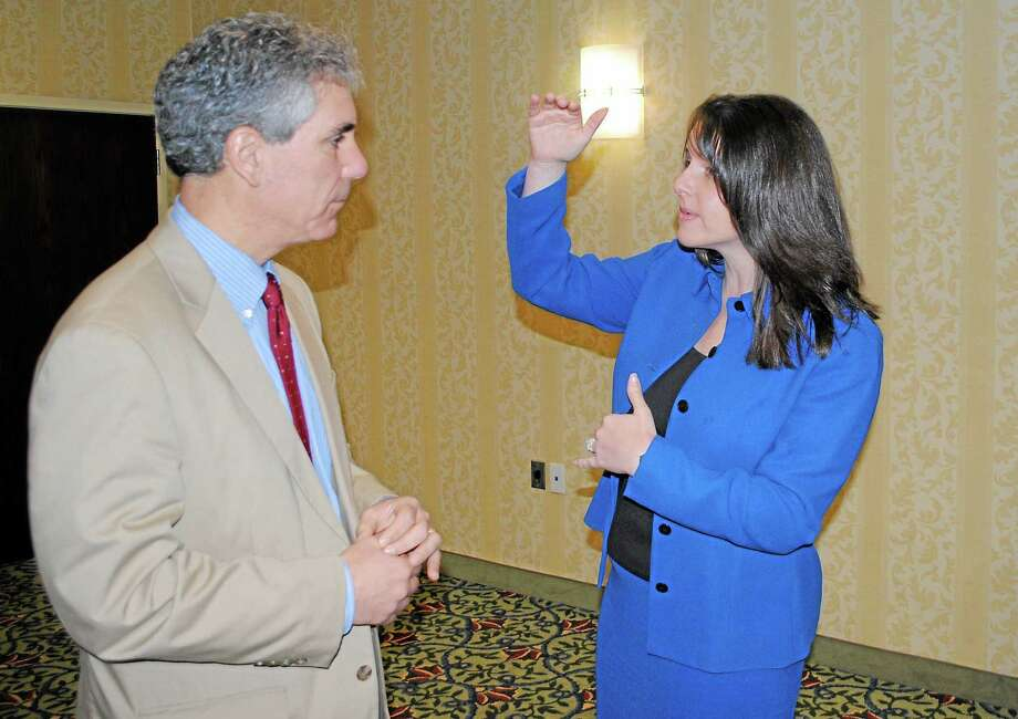 State Rep. Christie Carpino, R-Cromwell, right Photo: File Photo