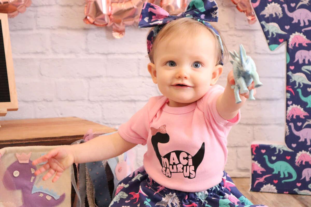 Maci McDonald turned one on October 21.