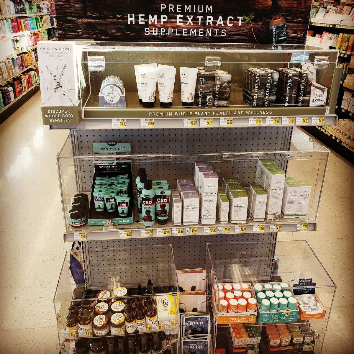 CBD products on sale at Bartell Drugs in Burien.