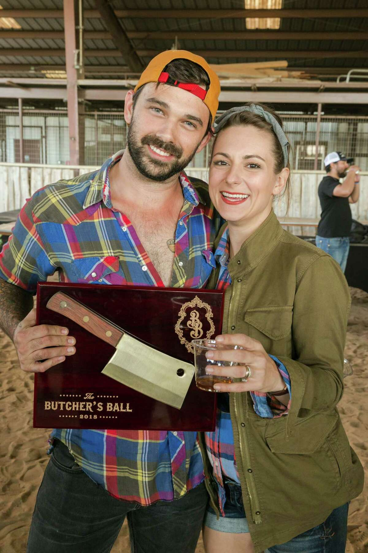 Tony Luhrman, owner and operator of El Topo Food Truck, with Kate Luhrman at 2018 Butcher's Ball. El Topo won the Golden Cleaver competition.