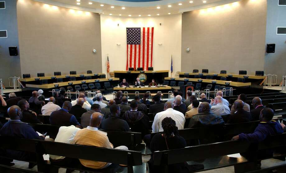 A public hearing was held about the proposed budget at City Hall Council Chambers in Bridgeport, Conn. on Tuesday April 3, 2012. Mayor Bill Finch proposes a $24 million increase, which would mean a 2.7 mill increase for residents. Photo: Christian Abraham / Christian Abraham / Connecticut Post