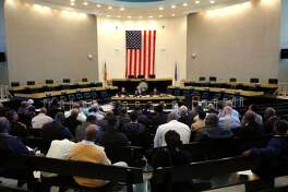 A public hearing was held about the proposed budget at City Hall Council Chambers in Bridgeport, Conn. on Tuesday April 3, 2012. Mayor Bill Finch proposes a $24 million increase, which would mean a 2.7 mill increase for residents.