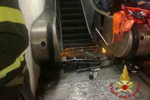 An escalator malfunction in Rome resulted in serious injuries to passengers in a subway station on Tuesday, Oct. 23, 2018.