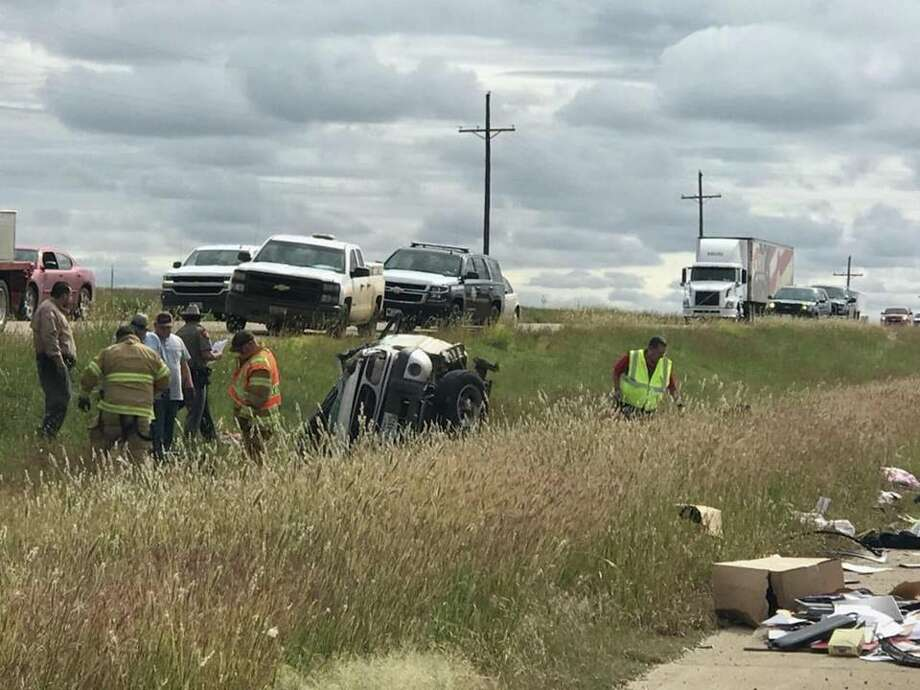 One person is dead following a vehicle rollover near Abernathy. Photo: Alexis Cubit/Plainview Herald