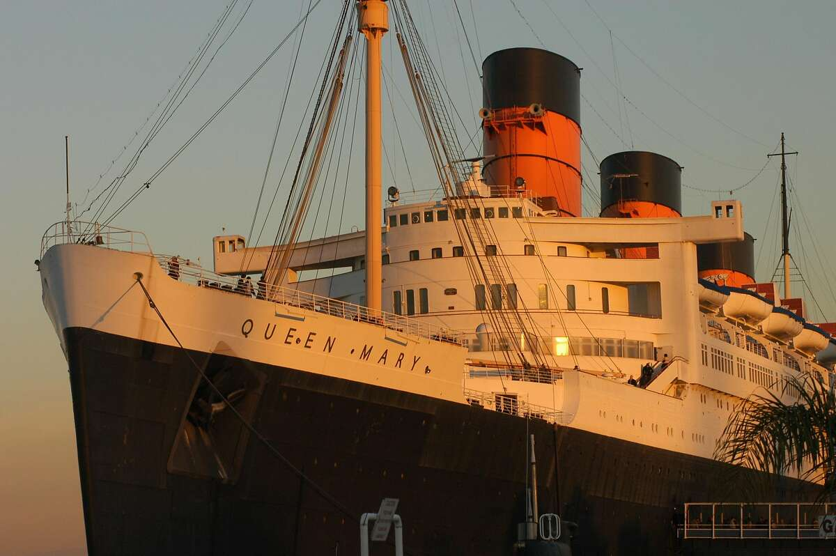 The Queen Mary, an ocean liner that was retired in 1967 and turned into a permanent hotel and attraction for the city of Long Beach.