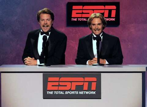 Jason Sudeikis, left, and Will Forte are seen at the ESPY Awards on Wednesday, July 14, 2010 in Los Angeles. (AP Photos/Chris Pizzello) Photo: Chris Pizzello