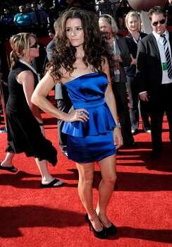 Danica Patrick arrives at the ESPY Awards on Wednesday, July 14, 2010 in Los Angeles. (AP Photo/Dan Steinberg) Photo: Dan Steinberg