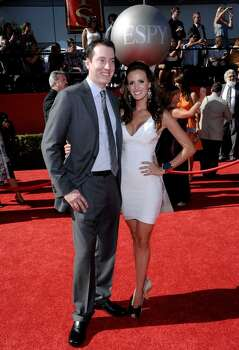 Kyle Busch and Samantha Sarcinella arrive at the ESPY Awards on Wednesday, July 14, 2010 in Los Angeles. (AP Photo/Dan Steinberg) Photo: Dan Steinberg