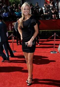Jennie Finch arrives at the ESPY Awards on Wednesday, July 14, 2010 in Los Angeles. (AP Photo/Dan Steinberg) Photo: Dan Steinberg