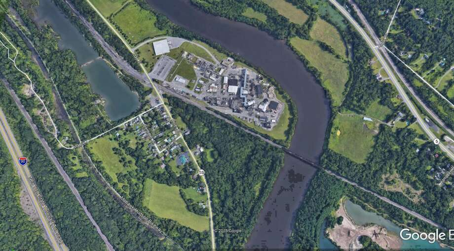 State officials have reached an agreement on a $13.8 million pollution cleanup and control plan with SI Group, owners of a chemical plant on Route 5S in Rotterdam Junction. Photo: Nearing, Brian, Google Earth Image