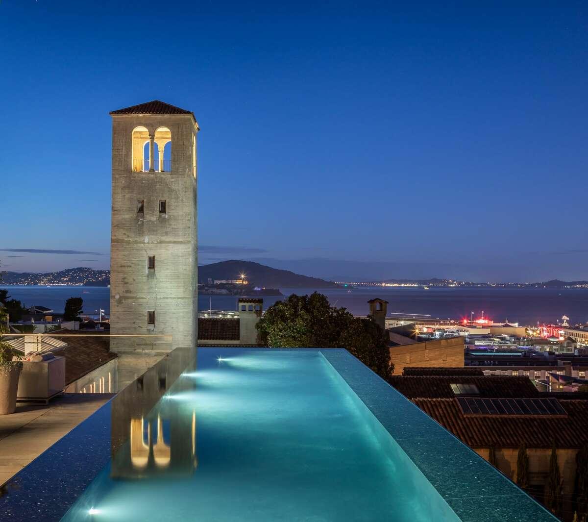 A 9,500-square-foot San Francisco home at 950 Lombard St. on the crest of Russian Hill is listed for $45 million.
