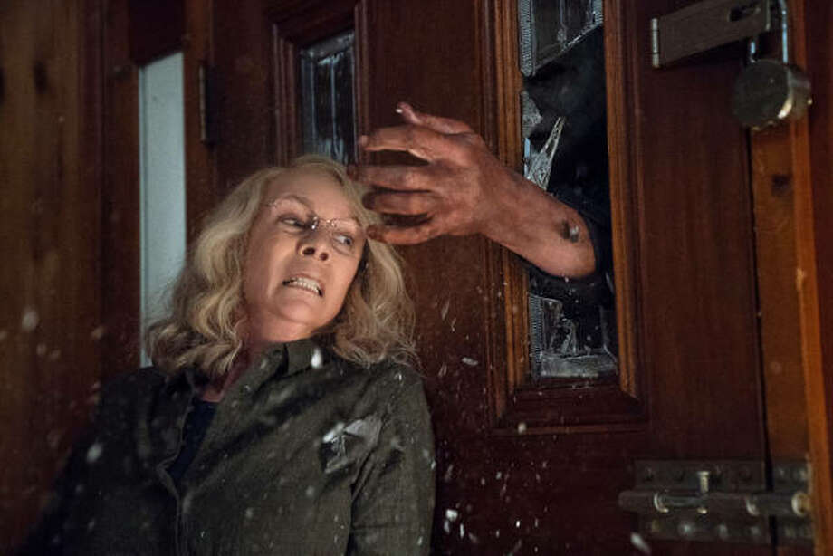 "This image released by Universal Pictures shows Jamie Lee Curtis in a scene from ""Halloween,"" in theaters nationwide on Oct. 19. Photo: Ryan Green 