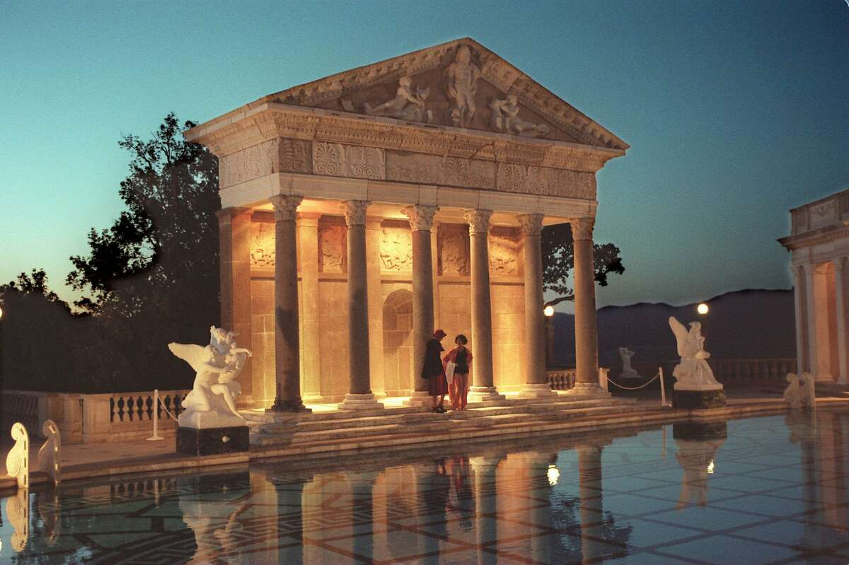 The Neptune Pool is seen at dusk, at Hearst Castle in San Simeon, Calif., in this undated file photo.