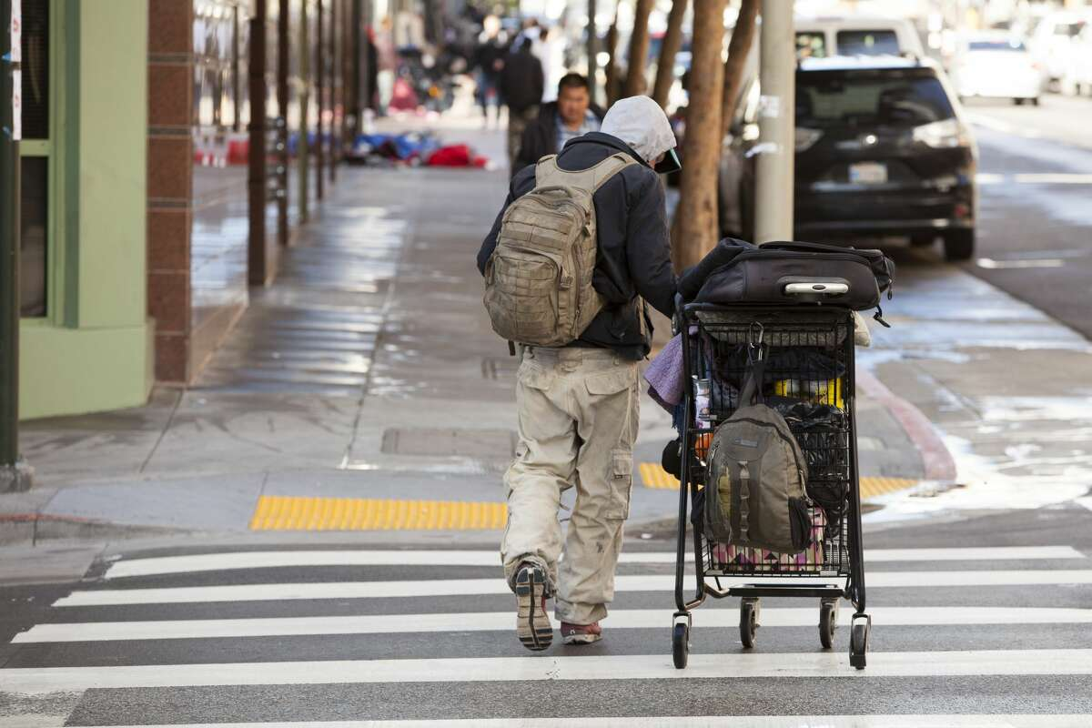 FILE PHOTO: The main people reason people find themselves living on the streets in San Francisco is the city's high cost of housing.