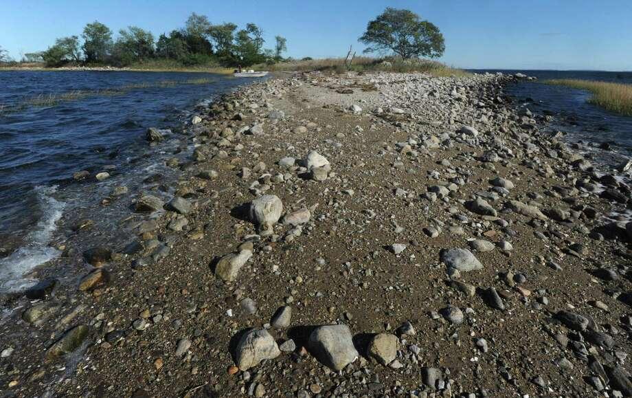 Grassy Island in Norwalk earlier this month. Photo: Erik Trautmann / Hearst Connecticut Media / Norwalk Hour