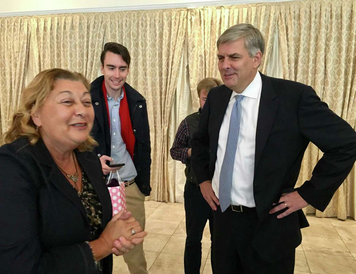 Republican Bob Stefanowski, at the fall luncheon of the Association of Retired Teachers of Connecticut on at the Aqua Turf in Southington on Tuesday.