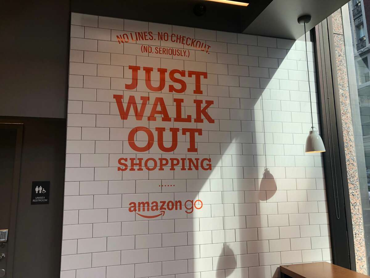 Inside the new Amazon Go store on Battery and California streets in San Francisco on Wednesday, Oct. 23, 2018.