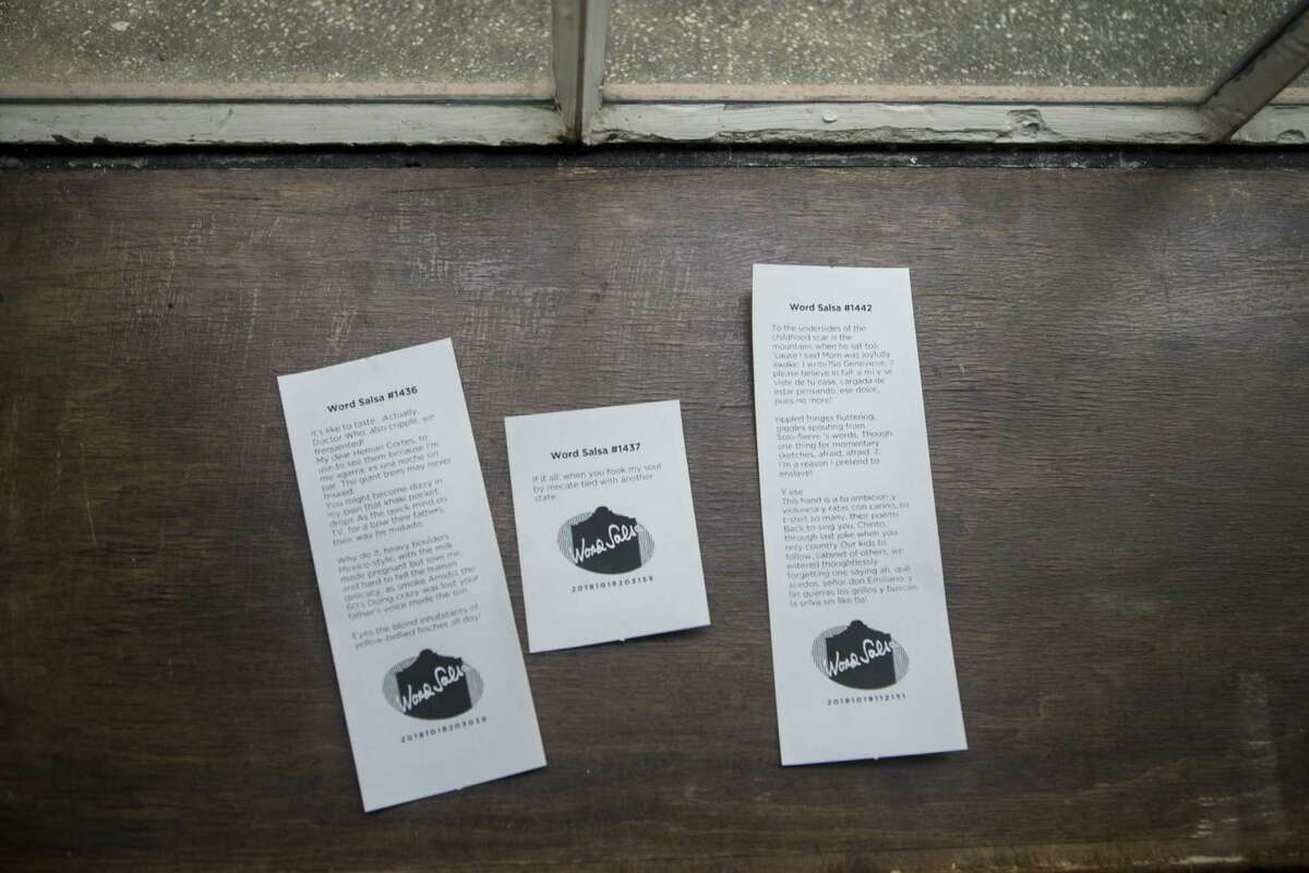 Poems created by the Word Salsa poetry kiosk are comprised of words drawn from 300 years of San Antonio poetry.