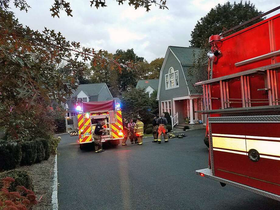 New Canaan, Conn., firefighters quickly put out a basement fire on Oct. 23, 2018. Photo: Contributed Photo / New Canaan Fire Department / Contributed Photo / Connecticut Post Contributed