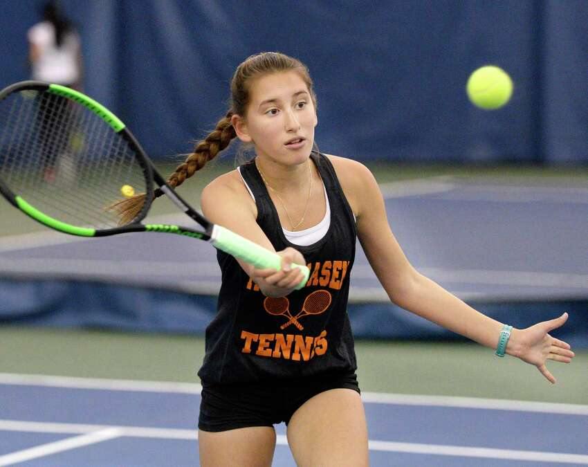 Girls' tennis: Loren Cuomo of Mohanasen