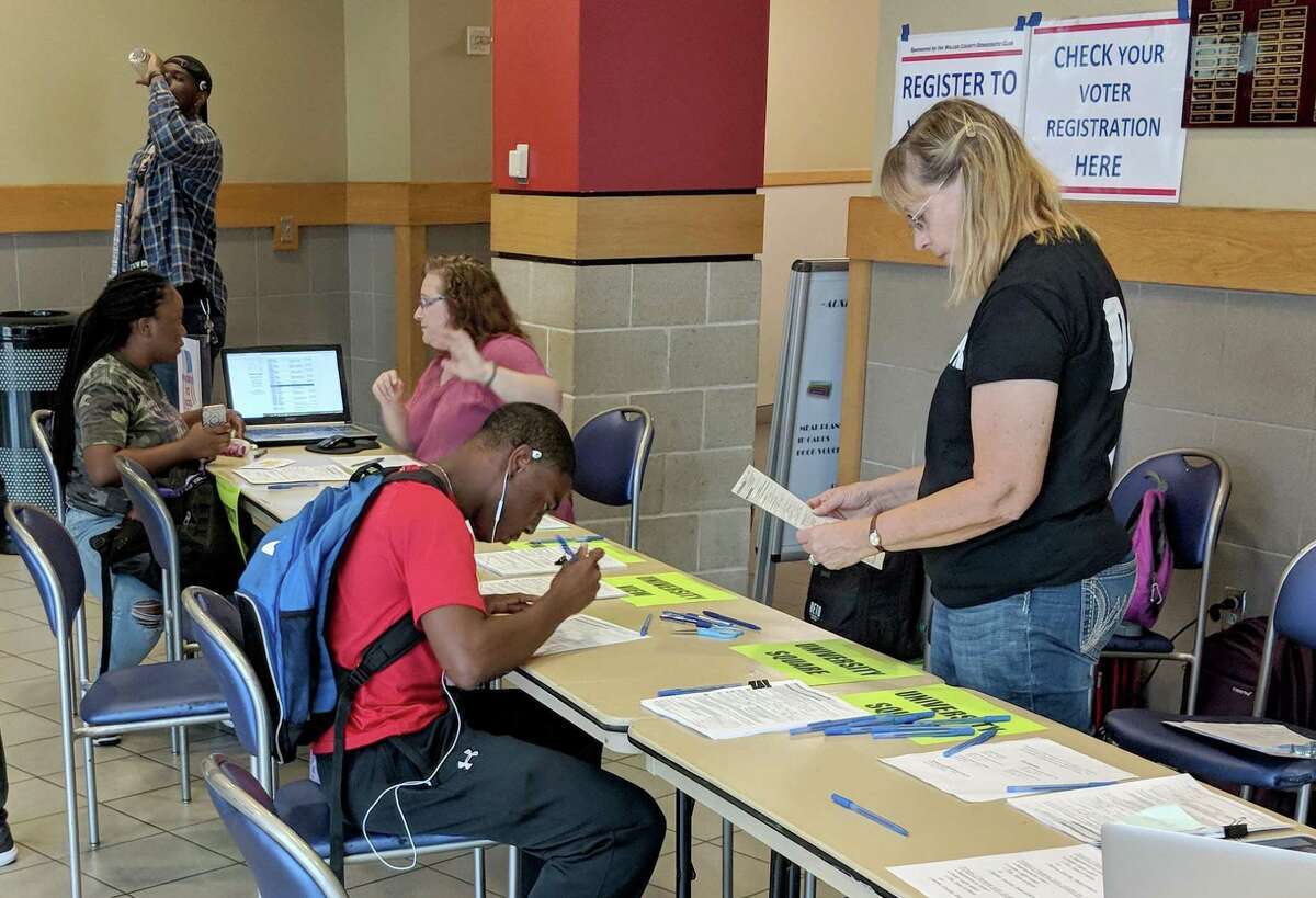 Prairie View A&M University students register to vote on Tuesday, the deadline to be able to cast a vote in the November election in Texas. >>These are the races to watch as early voting gets underway...