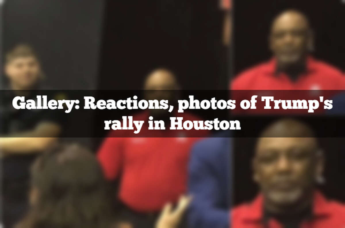 >>> See the best photos, reactions to President Trump's rally in Houston