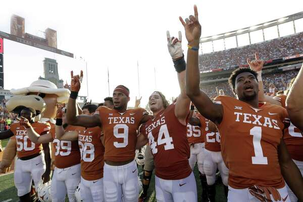 With those victories piling up, the Texas players are able to emote a little extra pride and satisfaction following games this season, especially at a packed Royal-Memorial Stadium.