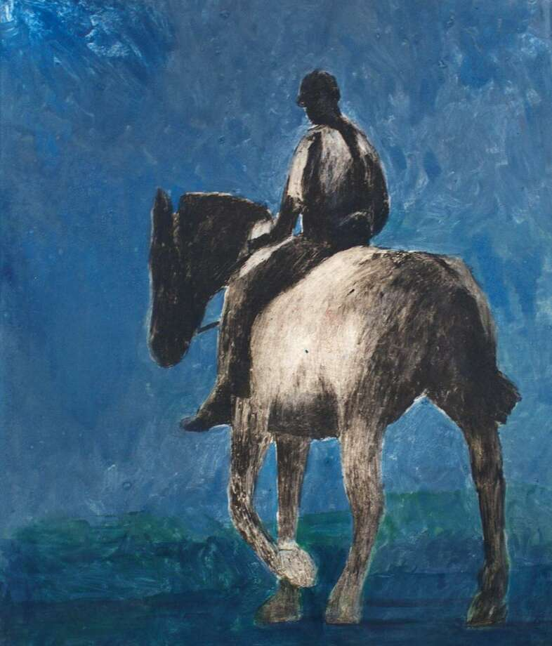 """""""A Horse and His Ride Returning No. 5,"""" is one of more than 50 works on display by Malcolm Moran in the exhibition """"The Beast and His Keeper,"""" which runs through May 25, 2014, at the Center for Contemporary Printmaking in Norwalk, Conn. Moran's experiences largely inspire his work. Photo: Contributed Photo / Contributed Photo / Stamford Advocate Contributed"""