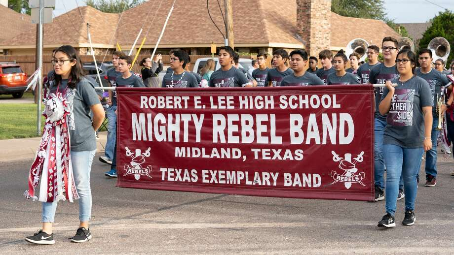 The Mighty Rebel Band marches in the Lee homecoming parade Monday, Oct. 22. Photo: Courtesy Photo