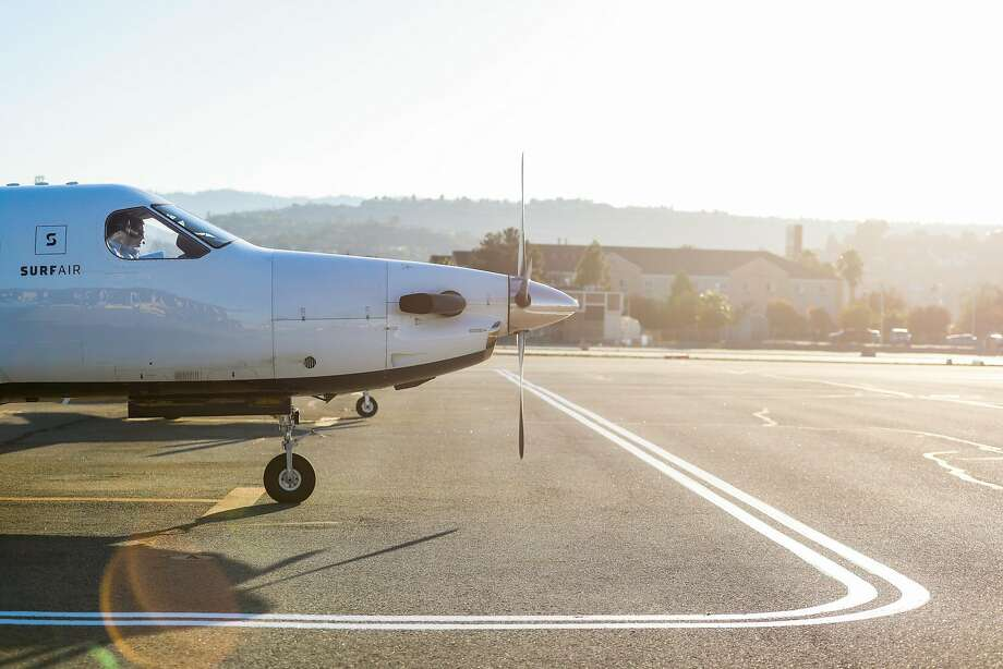 A plane prepares for takeoff at the San Carlos Airport on the Peninsula. Photo: Gabrielle Lurie / The Chronicle
