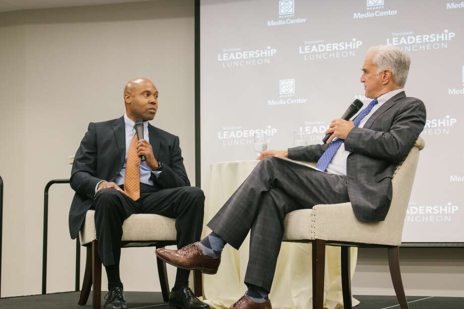 """Were you SEEN at the Times Union  Leadership Luncheon, """"A Conversation with Eric Hawkins, Albany's New  Police Chief,"""" event on Wednesday, Oct. 24 at the Hearst Media Center? Photo: Amanda Case"""
