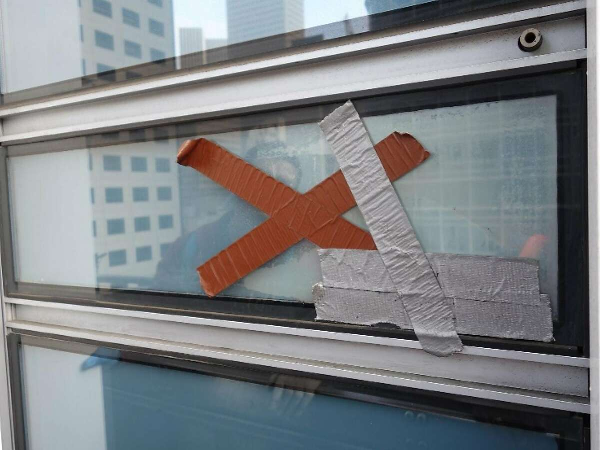 Cracked window at San Francisco's Millennium Tower