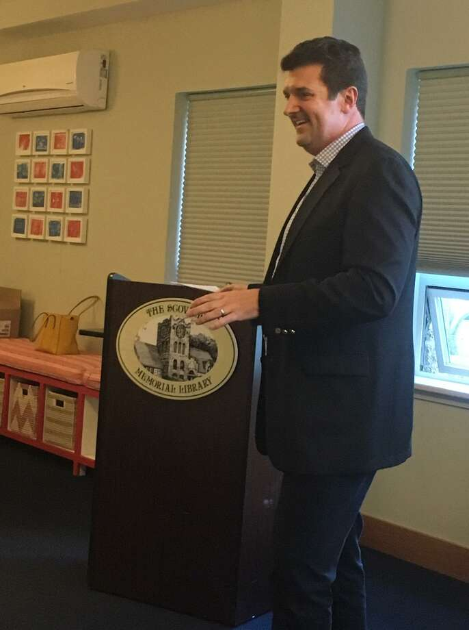 "Nicholas W. Stuller, author of ""The Truth Shall Set Your Wallet Free: Secrets to Finding the Perfect Financial Advisor,"" (Post Hill Press), which is being release on Nov. 13, was the guest speaker at the Scoville Memorial Library on Saturday, Oct 13 Books are available for pre-order at https://amzn.to/2yn5S0S and Barnes & Noble https://bit.ly/2yHFGOG. Stuller's book tells its readers that regardelss of how little money you have or how much, you can and should get a financial advisor that is ""perfect"" for you. Stuller is a resident of West Cornwall and previously lived in Lakeville. He says, "" I am not an advisor, rather an expert on financial advisors given my specific 30-year experience set."" Photo: Nicholas Stuller / Contributed Photo"