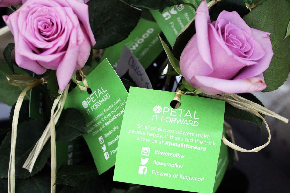 Flowers of Kingwood celebrated their first annual Petal It Forward initiative on Oct. 24, 2018 by delivering roses to different schools and businesses in the Kingwood area.
