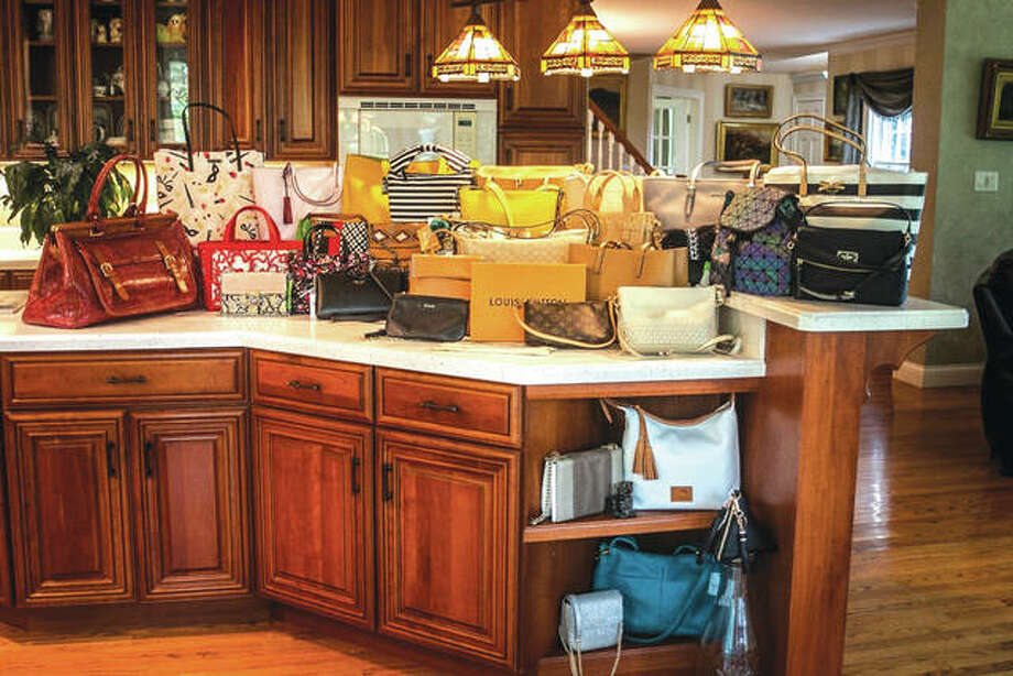 Some of the purses that will be featured in the YWCA's Purse Raffle. Photo: For The Intelligencer