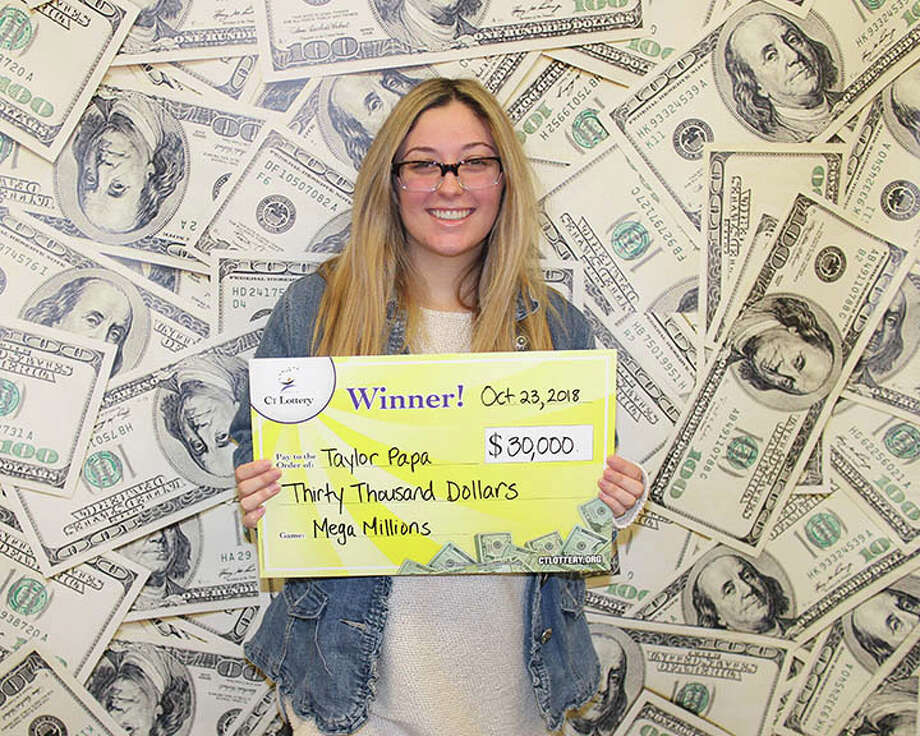 Taylor Papa of North Haven won $30,000 in the Mega Millions Jackpot Drawing this week, lottery officials said. Photo: Courtesy Of Connecticut Lottery