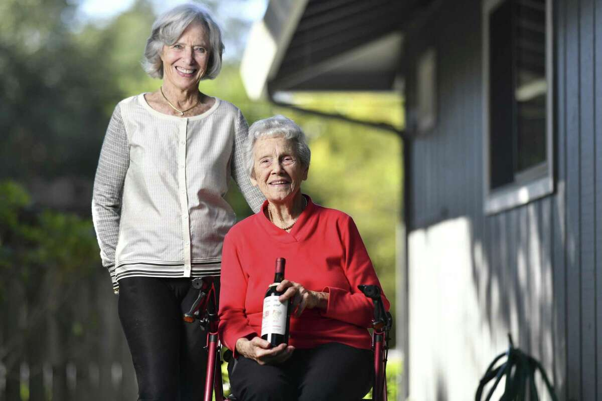 Joanne DePuy (left) and Dorothy Tchelistcheff in Napa on Oct. 12, 2018.